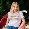 Ali & Ariel Vintage Logo Tee <br> (available for multiple organizations!) Alpha Chi Omega / Small