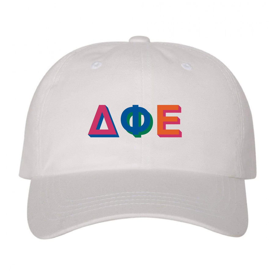 White Color Block Dad Hat <br> (available for multiple organizations!)