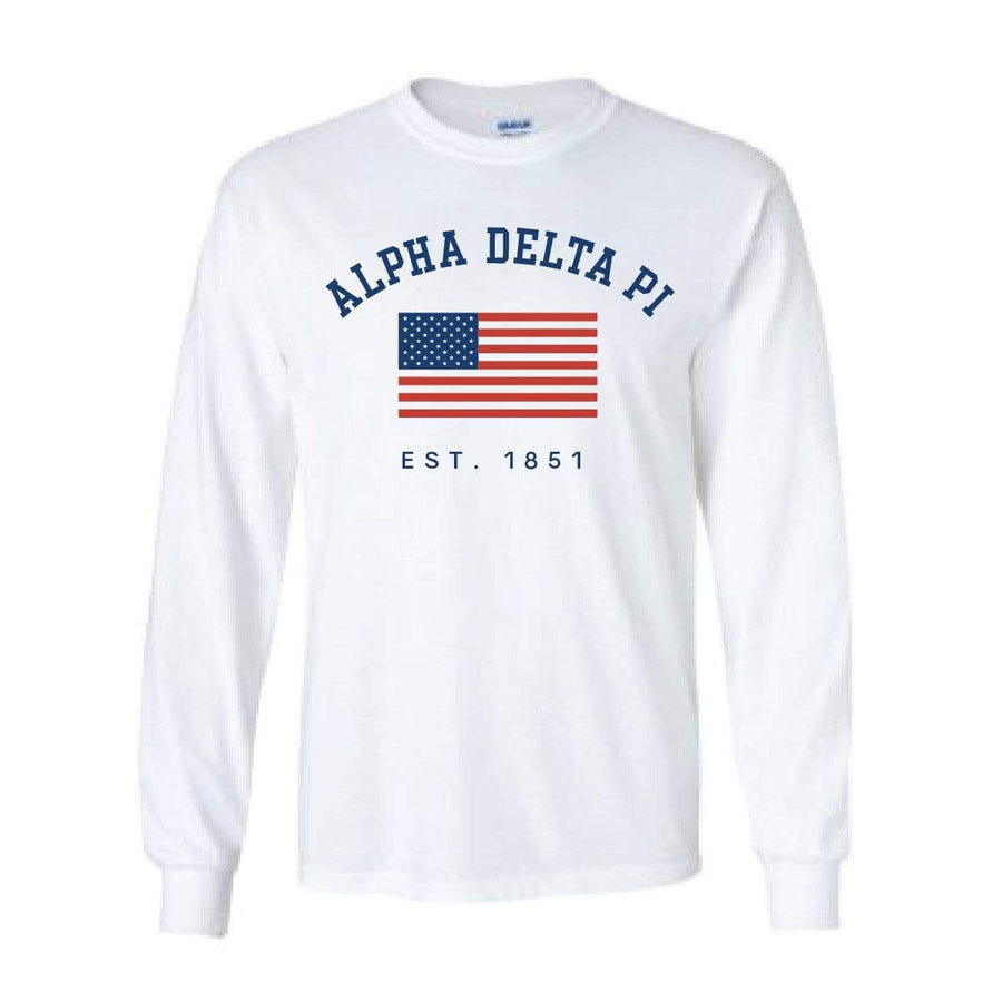 White USA Long Sleeve <br> (available for every organization!)