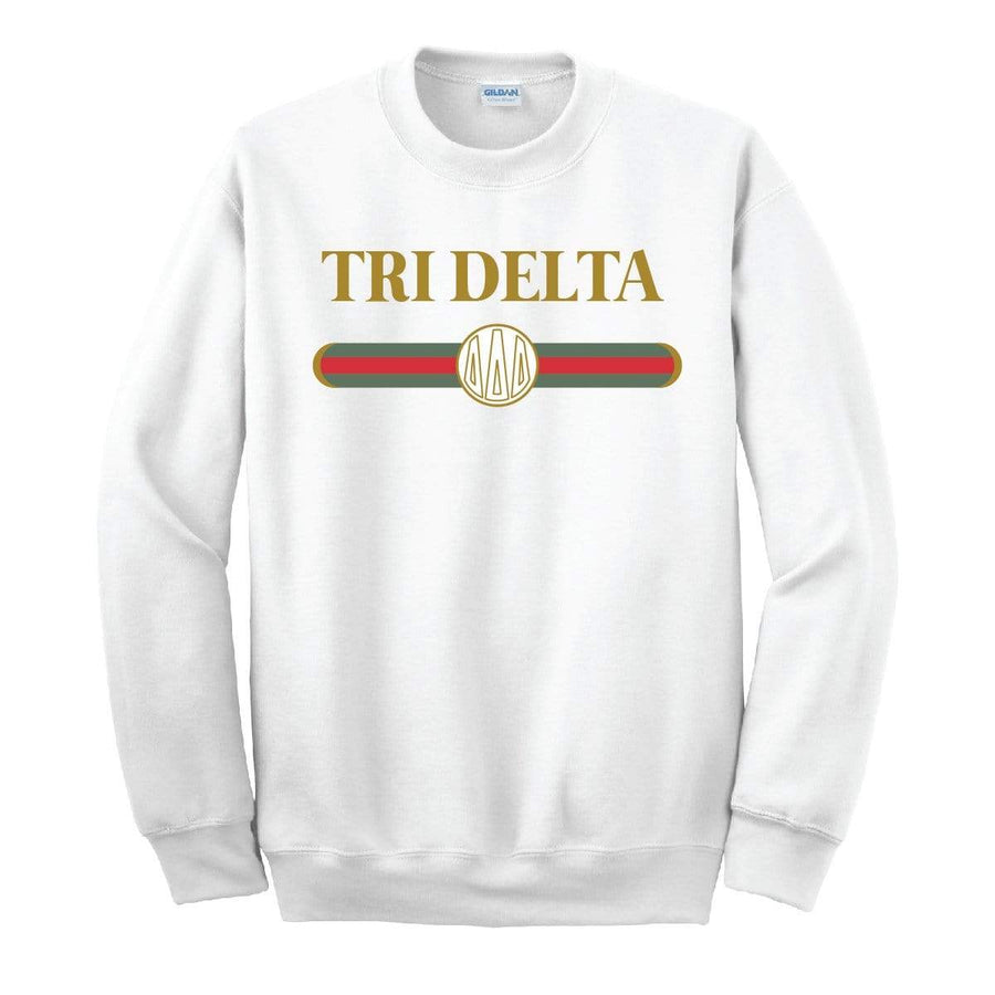White Vintage Logo Sweatshirt <br> (available for multiple organizations!)