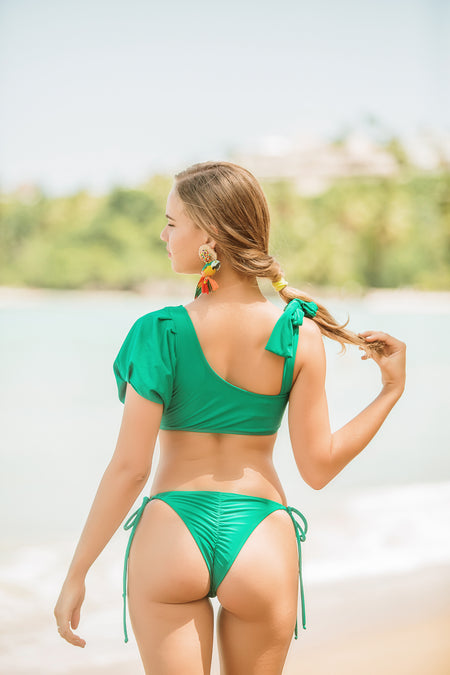 Color block green bottom