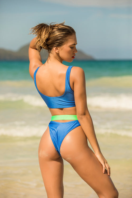 Color block blue bottom