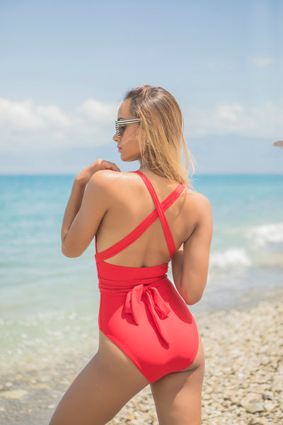 Red hot Monokini