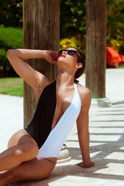 Black and White monokini