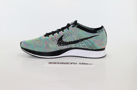 "NIKE FLYKNIT RACER ""Rainbow"" OG  2015 (BLACK TONGUE)"