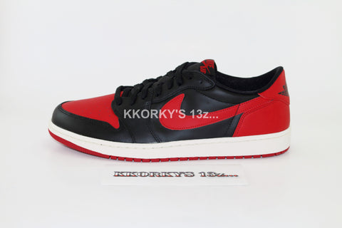 NIKE AIR JORDAN 1 RETRO LOW OG  'Bred'(Less than Retail)
