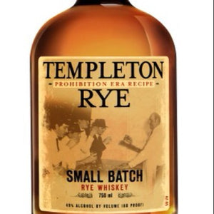 "Templeton Rye - Rye Aged 4 Years ""The Good Stuff"" Made In Iowa .750"