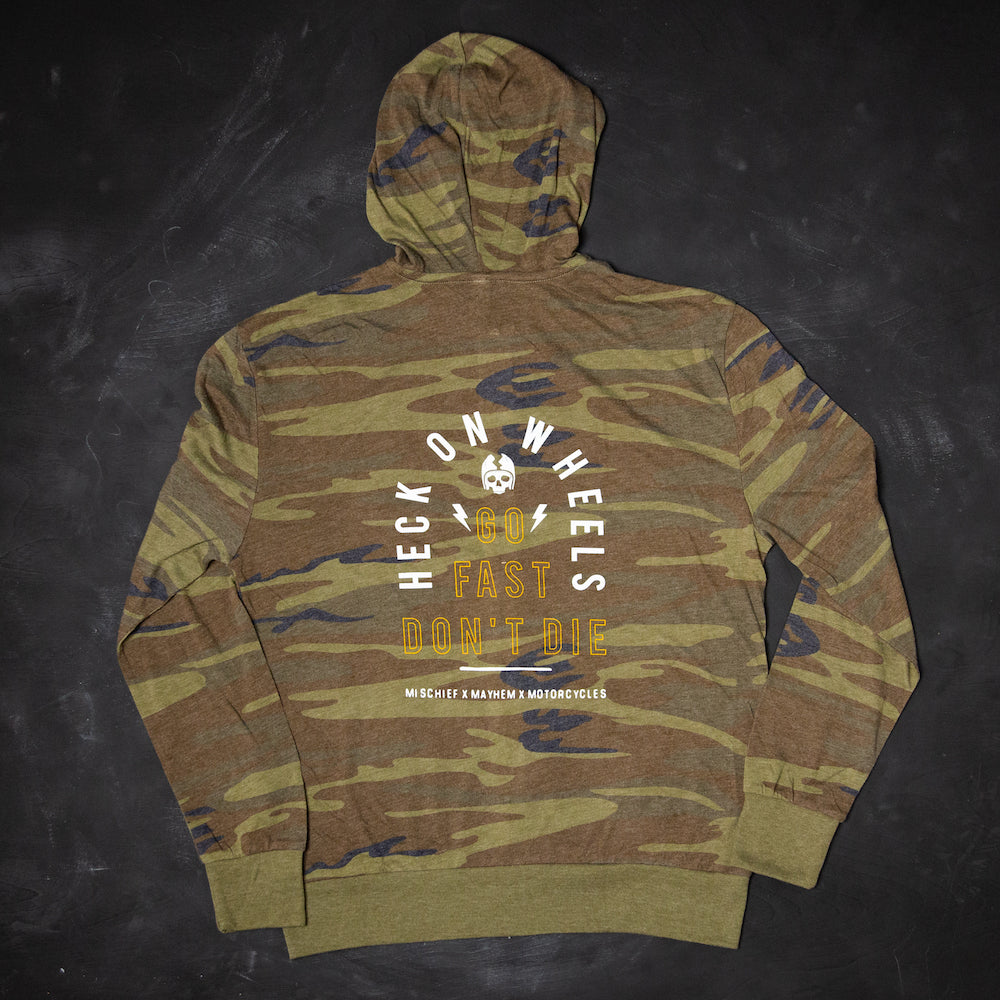 Heck On Wheels Camofornia Lightweight Zip Hoodie