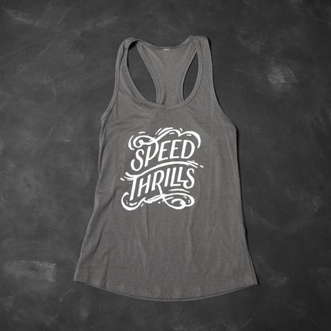 Speed Thrills Women's Tank Dark Grey