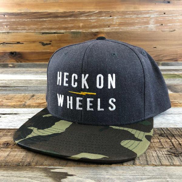 Heck on Wheels Camo Wool Snapback Hat