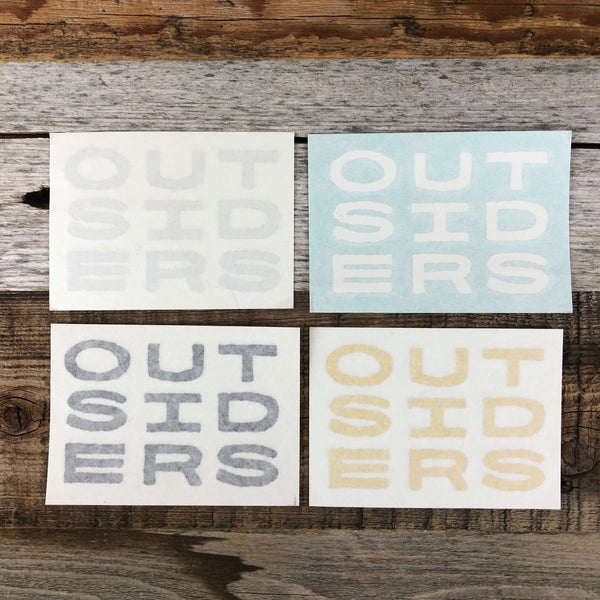 Outsiders Small Sticker