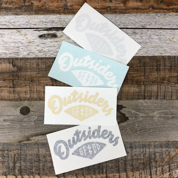 Outsiders Script Sticker