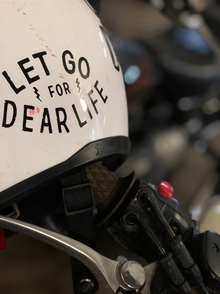 Let Go For Dear Life Sticker