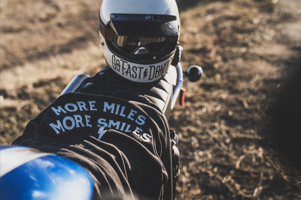 More Miles More Smiles Vintage Moto Jersey