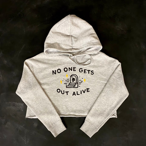No One Gets Out Alive Women's Crop Hoodie