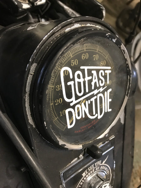 Go Fast Don't Die | Motorcycle Decal Sticker Small