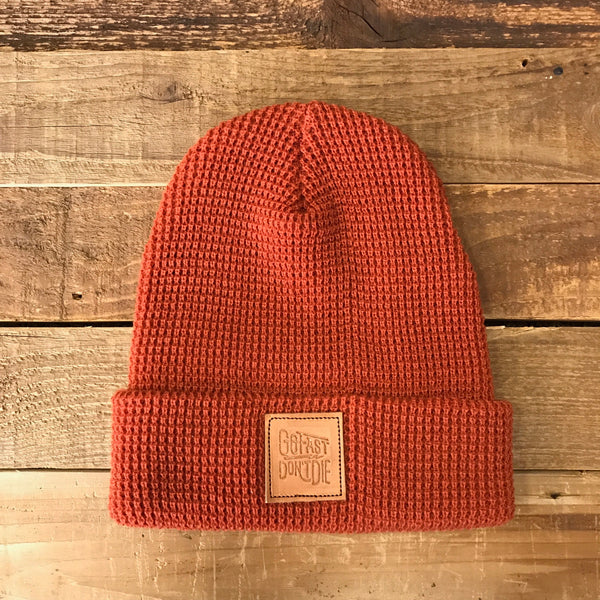 The Original Waffle Cuff Beanie - Orange