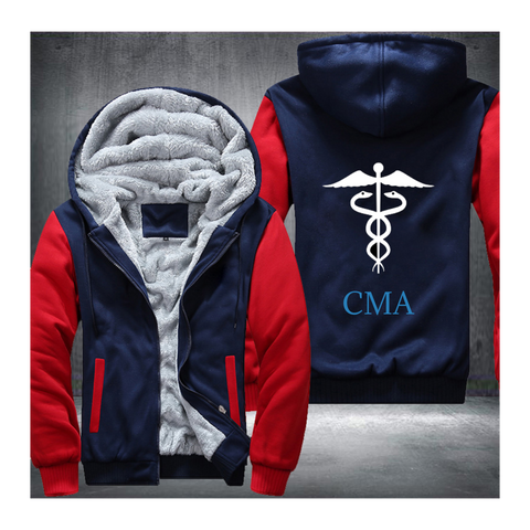 Medical Caduceus Fleece Jacket (Customize)
