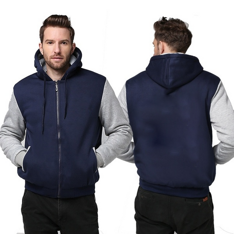 BLUE FLEECE JACKET (CUSTOMIZE)