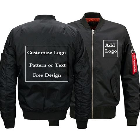 Black Bomber Jacket (Customize)