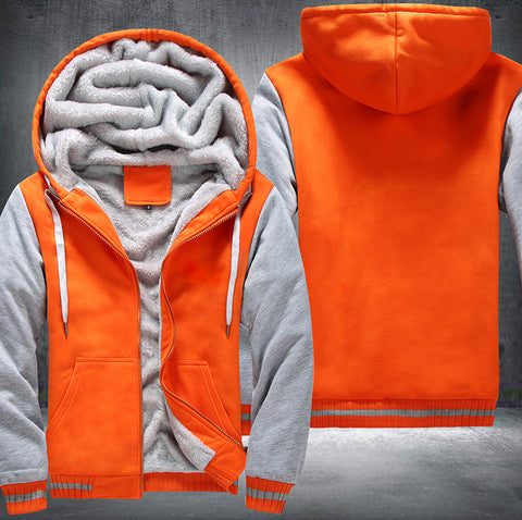 Orange-White Fleece Jacket