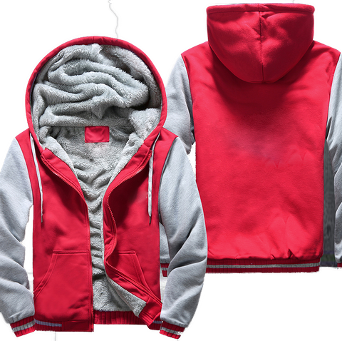 Red & White Fleece Jacket