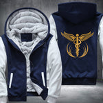 Gold Medical Caduceus Fleece Hoodie