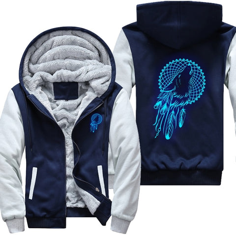 Luminous Wolf Fleece Jacket