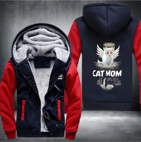 Cat Mom Wings Hoodie