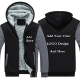 GREY FLEECE JACKET (CUSTOMIZE)