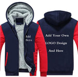 Customize Your LOGO Design Fleece Hoodie