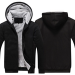 BLACK FLEECE JACKET (CUSTOMIZE)