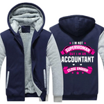 Accountant Superwomen Fleece Hoodie
