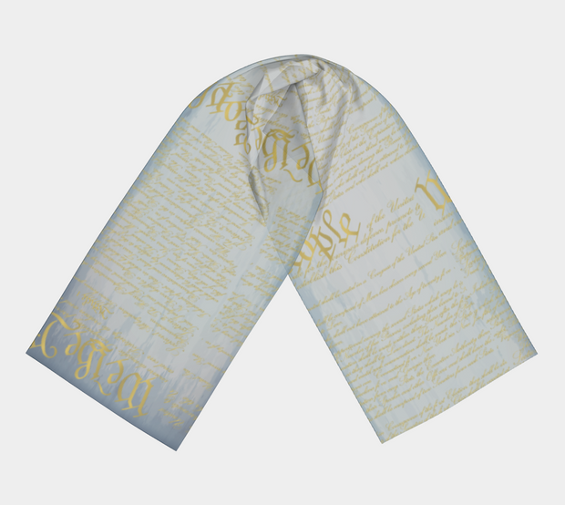 Constitution long silk scarf - The National Memo