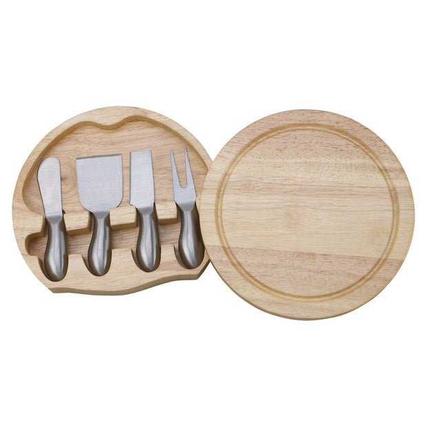 Personalized Round Cheeseboard & Cheese Knives Set - The National Memo