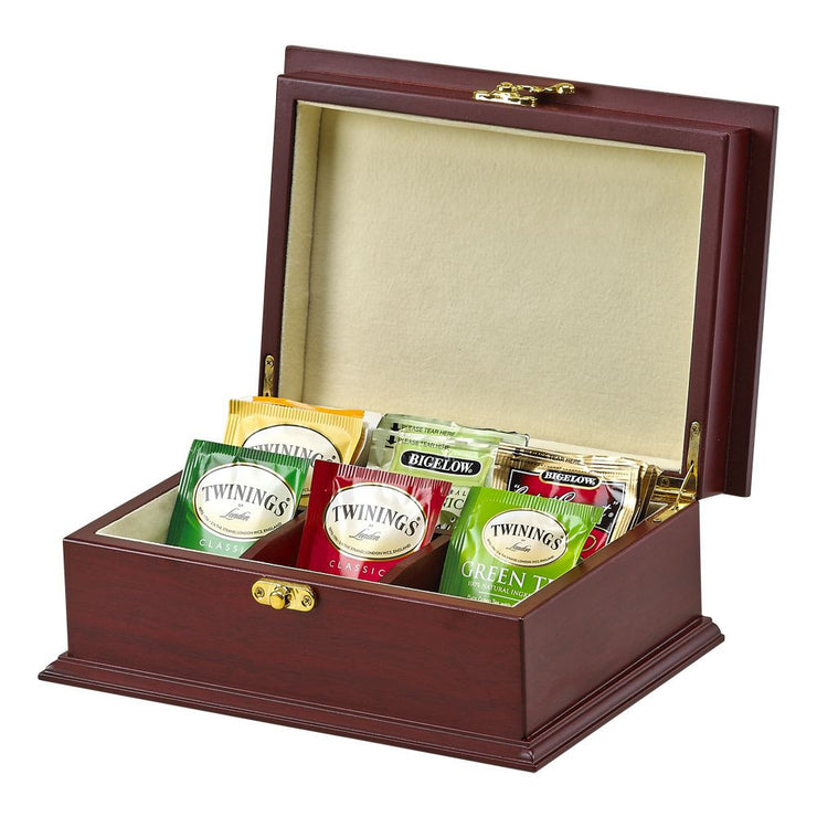 Personalized Wood Tea Box - The National Memo