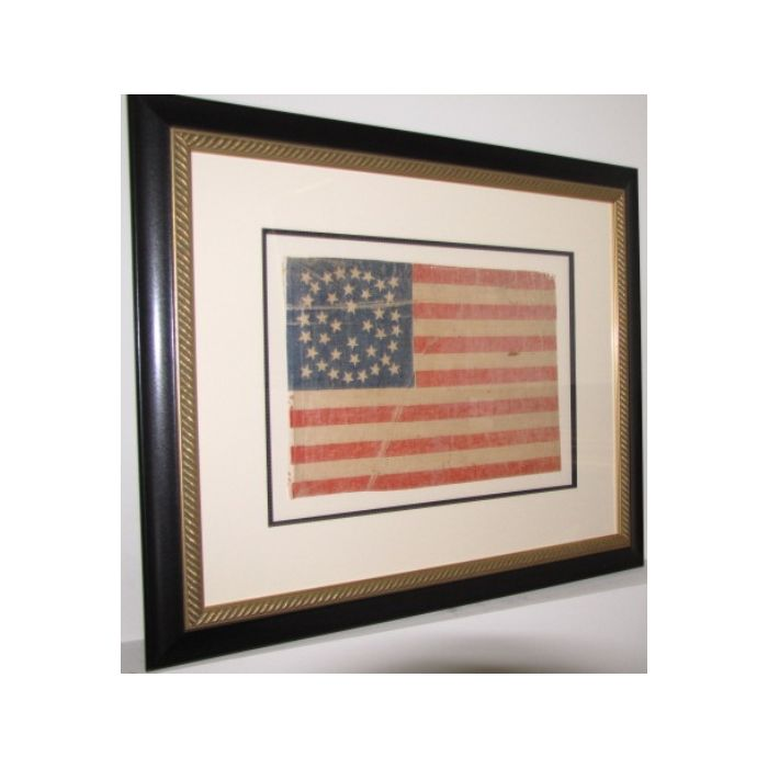 38 Star Historic Flag - Framed Medallion Star Pattern - The National Memo
