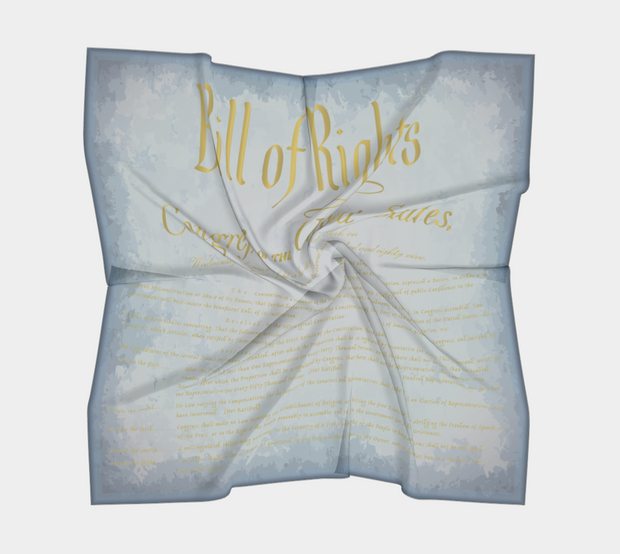 Bill of Rights Blue Silk Square Scarf - The National Memo
