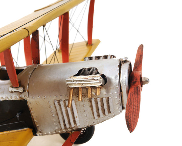 Yellow Curtis Jenny Model Airplane