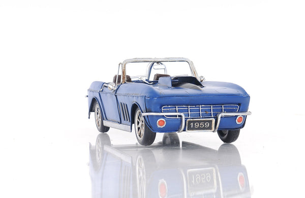 Blue Chevrolet Corvette Model Car