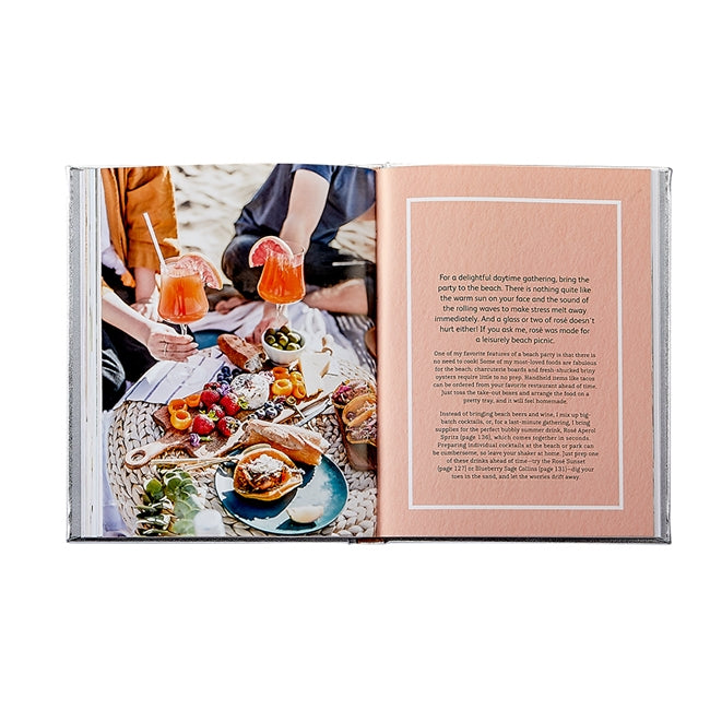 Celebrate Rosé Cocktail Book (Silver Metallic)