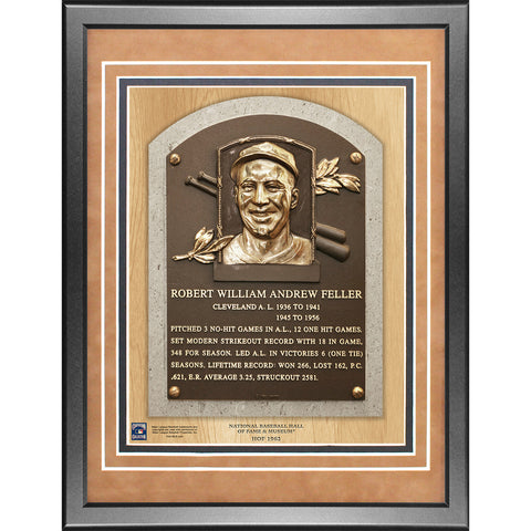 Bob Feller Framed Hall of Fame Plaque