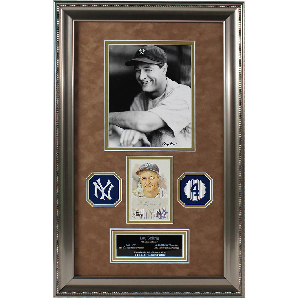 Lou Gehrig Signed Photo Collage