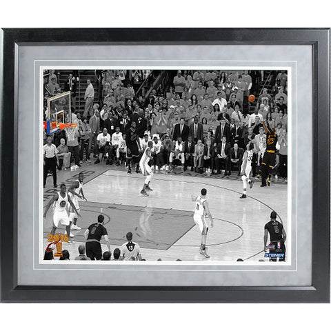 2016 NBA Championship Game Winning Shot Framed Photograph