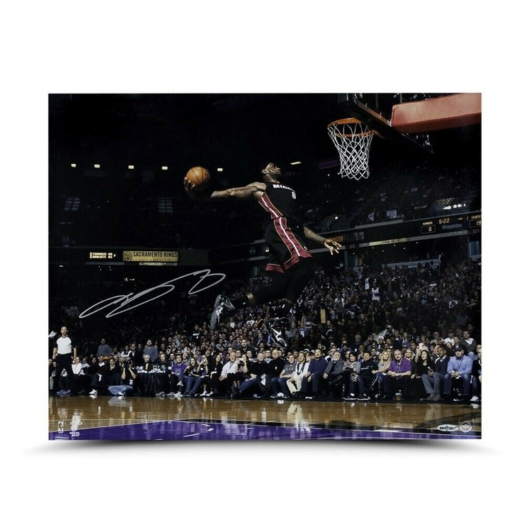 LeBron James Flying Dunk Miami Heat Signed Photo - The National Memo