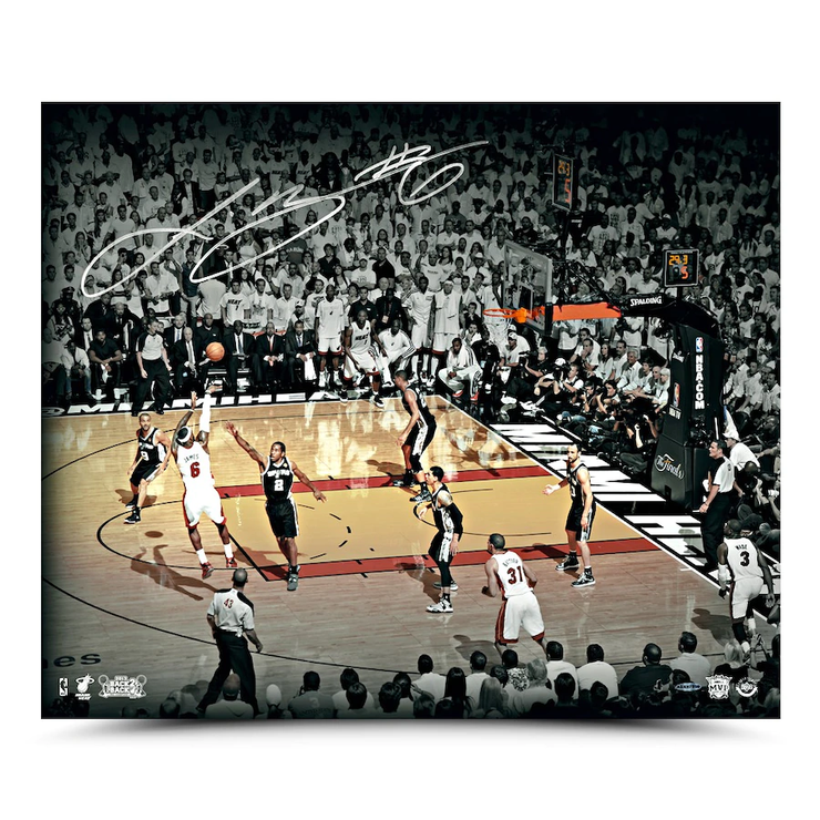 LeBron James 2013 NBA Finals Miami Heat Winning Shot Signed Photo - The National Memo
