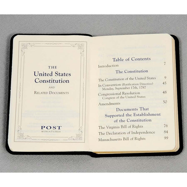 Mini United States Constitution- Traditional Leather