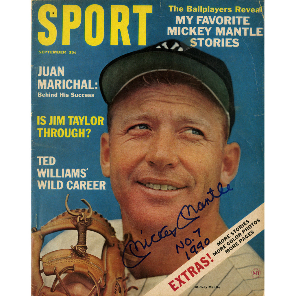Mickey Mantle Signed 1964 Sport Magazine
