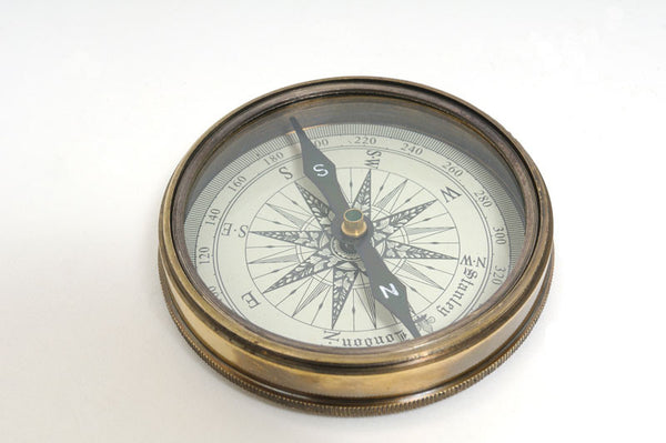 Antique Brass Compass with 1964 Beatles Cover