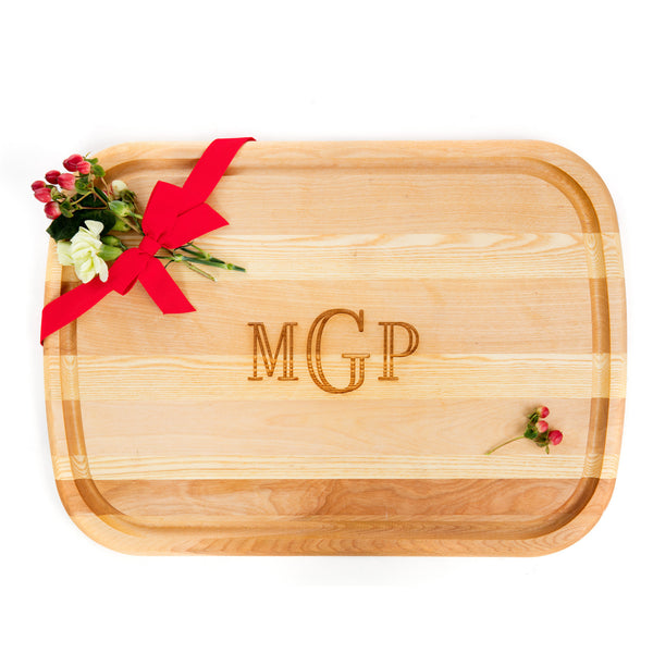 Large Custom Monogrammed Cutting Board